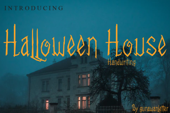 Print on Demand: Halloween House Manuscrita Fuente Por gunawanletter