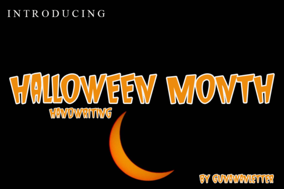 Print on Demand: Halloween Month Display Font By gunawanletter
