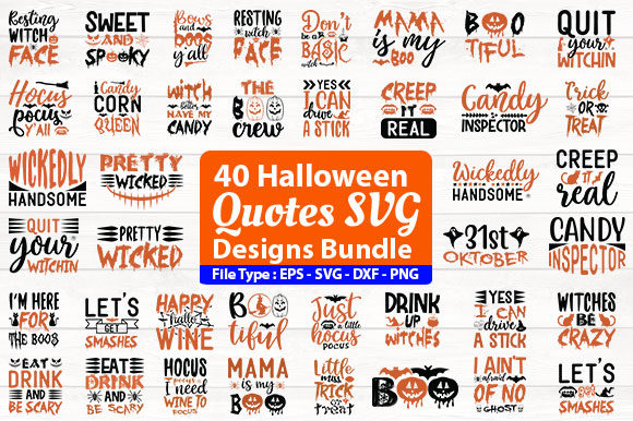 Print on Demand: Halloween Design Bundle Graphic Print Templates By Design Store