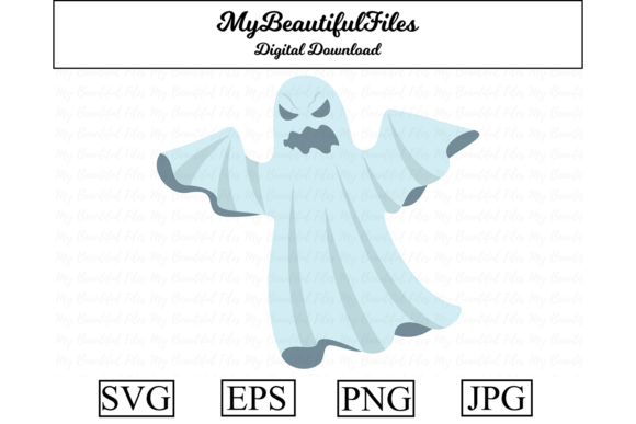 Print on Demand: Halloween - Ghost Graphic Illustrations By MyBeautifulFiles