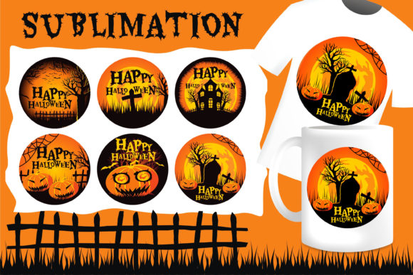 Print on Demand: Halloween Sublimation Set Graphic Illustrations By edywiyonopp