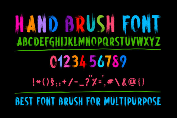 Print on Demand: Hand Brush Display Font By OWPictures - Image 1