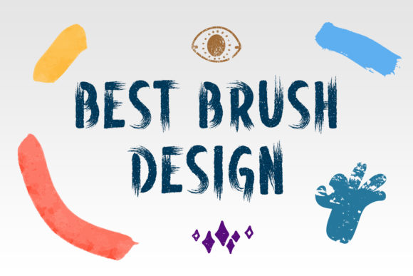Print on Demand: Hand Brush Display Font By OWPictures - Image 3