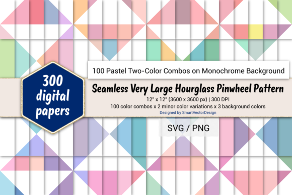 Print on Demand: Huge Hourglass - Two-Color Pastels on BG Graphic Backgrounds By SmartVectorDesign