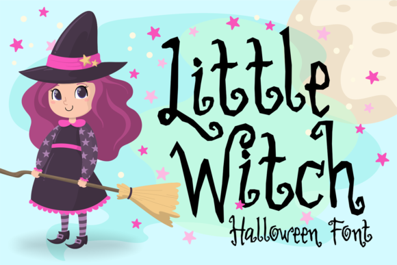 Print on Demand: Little Witch Display Font By brithostype - Image 1