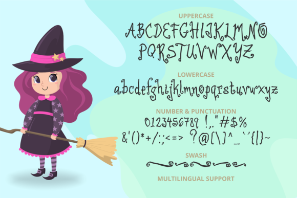 Print on Demand: Little Witch Display Font By brithostype - Image 5