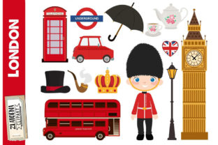 London Clipart British Clipart England Graphic Illustrations By Zlatoena Clipart