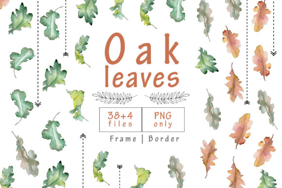 Print on Demand: Oak Leaves Watercolor Set Graphic Illustrations By MyStocks