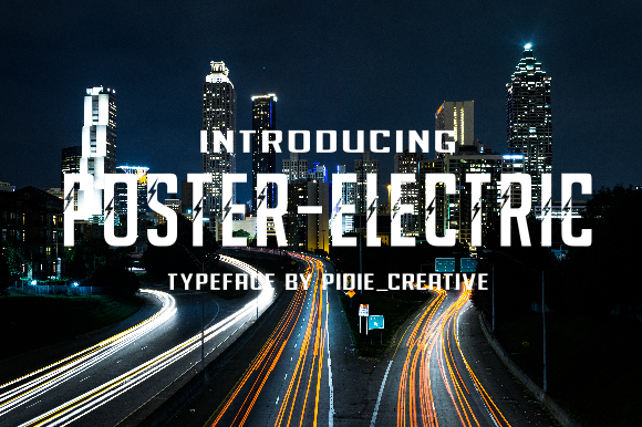 Print on Demand: Poster-Electric Display Font By Pidie_Creative