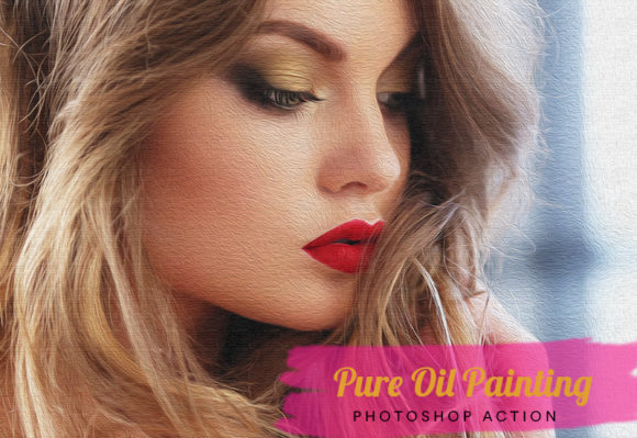 Pure Oil Painting Photoshop Action Graphic Actions & Presets By artgalaxy