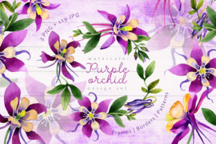 Print on Demand: Purple Orchid Watercolor Set Graphic Illustrations By MyStocks