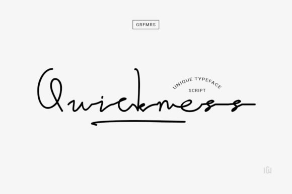 Print on Demand: Quickness Manuscrita Fuente Por Grafemars