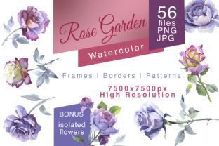 Print on Demand: Rose Garden Watercolor Set Graphic Illustrations By MyStocks