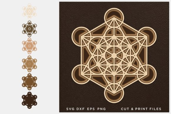 Sacred Geometry, 3D Geometry Graphic 3D SVG By 2dooart