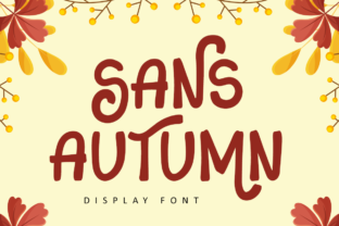 Print on Demand: Sans Autumn Display Font By illushvara