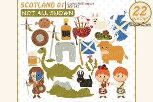 Scotland Clipart, Scottish Art, Travel Graphic Illustrations By clipartfables