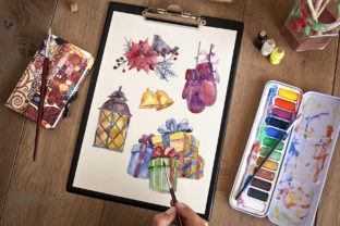 Print on Demand: Set of Illustrations Christmas Miracle Watercolor Graphic Illustrations By MyStocks 3