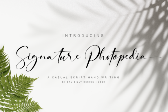 Print on Demand: Signature Photopedia Script & Handwritten Font By Balibilly Design