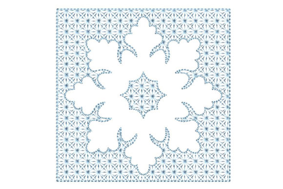 Print on Demand: Snowflake 3D Effect Christmas Embroidery Christmas Embroidery Design By Embroidery Shelter - Image 1