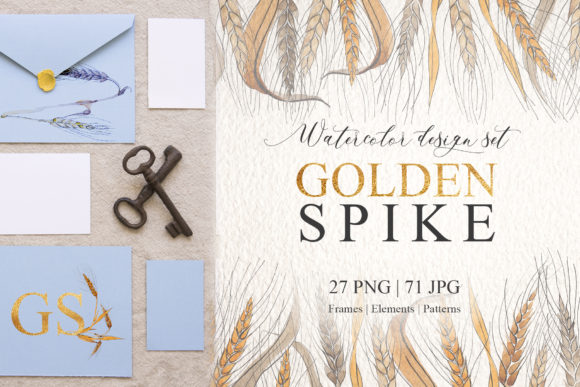 Print on Demand: Spike Watercolor Design Set Graphic Illustrations By MyStocks
