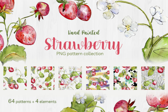Print on Demand: Sweet Watercolor Strawberry Graphic Illustrations By MyStocks