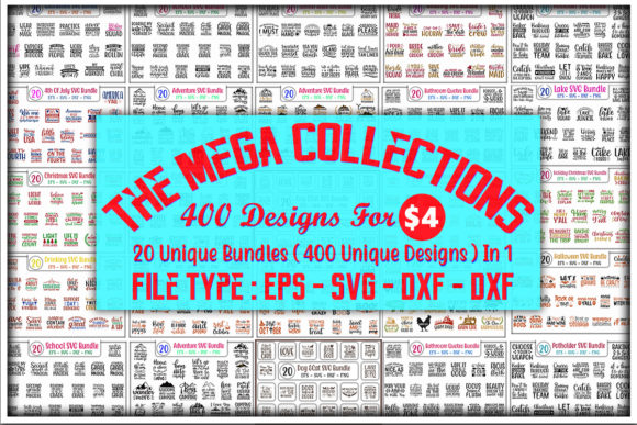 Print on Demand: The Mega Collections Bundle  By GraphicsBooth