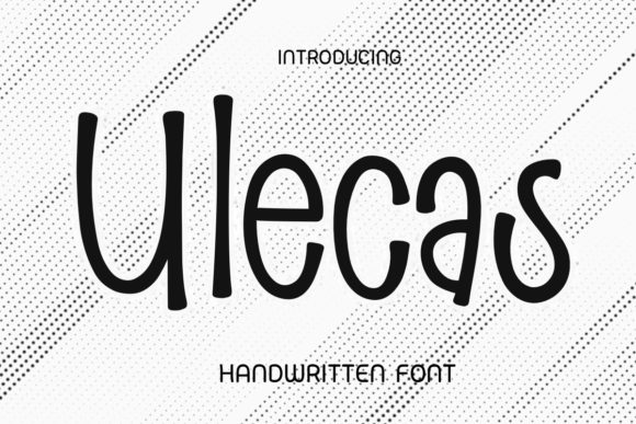 Print on Demand: Ulecas Display Font By Ality