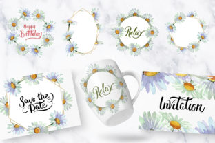 Print on Demand: White Chamomile Flowers Watercolor Graphic Illustrations By MyStocks 4