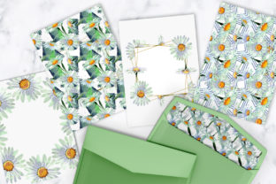 Print on Demand: White Chamomile Flowers Watercolor Graphic Illustrations By MyStocks 5