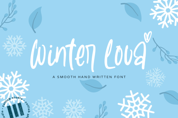 Print on Demand: Winter Lova Manuscrita Fuente Por colllabstudio