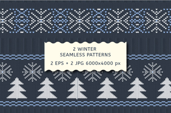 Winter Knitting Seamless Pattern. Vector Graphic Patterns By kazakova_o