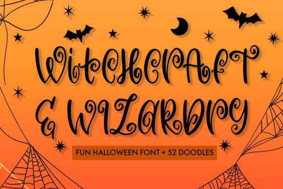 Print on Demand: Witchcraft and Wizardry Display Font By freelingdesignhouse - Image 1