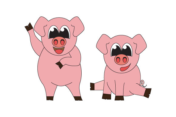 Print on Demand: Cute Pig Animal Cartoon Graphic Illustrations By curutdesign