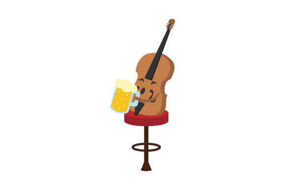 Beer Cello Music Craft Cut File By Creative Fabrica Crafts - Image 1