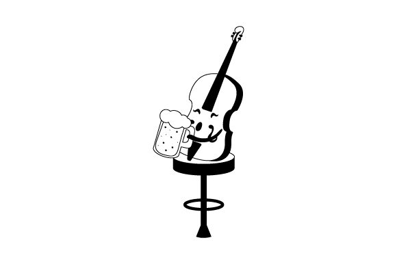 Beer Cello Music Craft Cut File By Creative Fabrica Crafts - Image 2