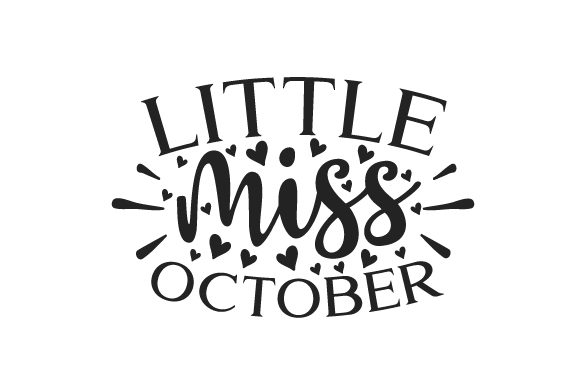 Little Miss October Fall Craft Cut File By Creative Fabrica Crafts