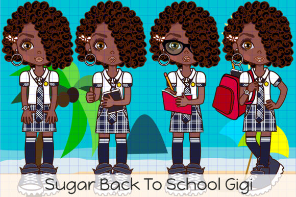 Back to School Gigi Graphic Illustrations By Dolls To Go