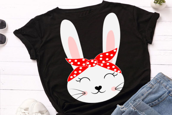 Print on Demand: Cute Rabbit, Bunny Animal Face Svg Graphic Illustrations By Lillyrosy - Image 1