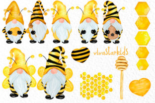 Print on Demand: Bumble Bee Gnomes Graphic Illustrations By vivastarkids 2