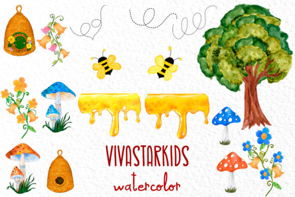 Gnomes and Bees,Bumble Bee Gnomes Graphic Illustrations By vivastarkids - Image 3