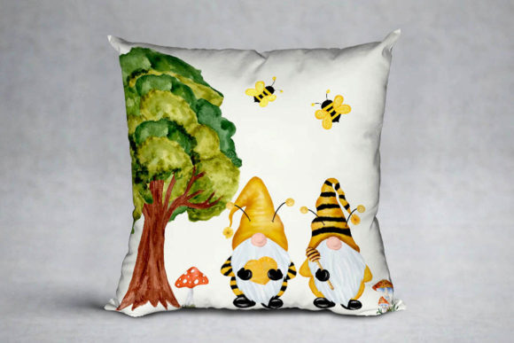 Gnomes and Bees,Bumble Bee Gnomes Graphic Illustrations By vivastarkids - Image 4