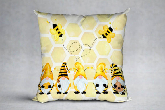 Gnomes and Bees,Bumble Bee Gnomes Graphic Illustrations By vivastarkids - Image 5