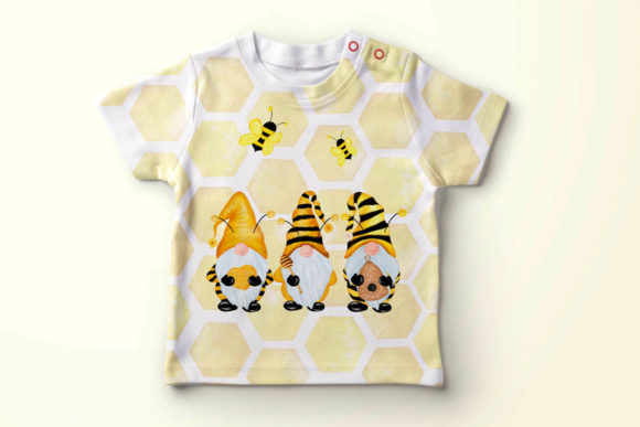 Gnomes and Bees,Bumble Bee Gnomes Graphic Illustrations By vivastarkids - Image 6