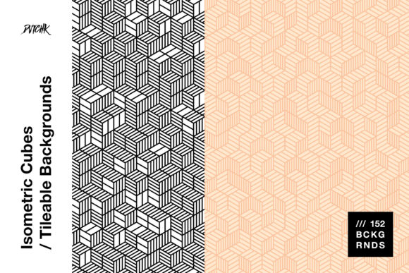 Isometric Cubes | Tileable Backgrounds Graphic Patterns By dvtchk