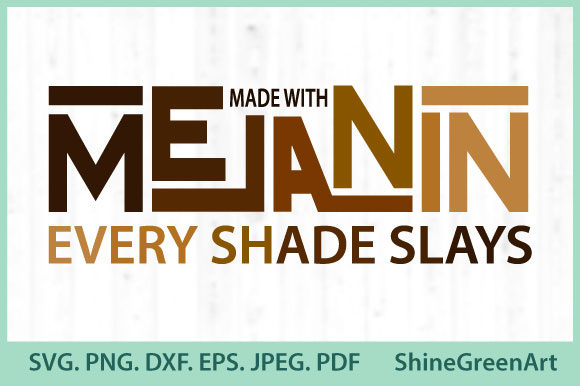 Print on Demand: Melanin Slays - Black Lives - Afro Women Graphic Crafts By ShineGreenArt