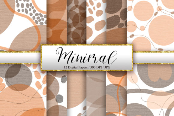 Minimal Background Digital Papers Graphic Backgrounds By PinkPearly - Image 1