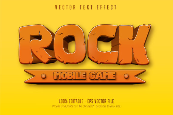 Print on Demand: Mobile Game Style Editable Text Effect Graphic Graphic Templates By Mustafa Bekşen - Image 1