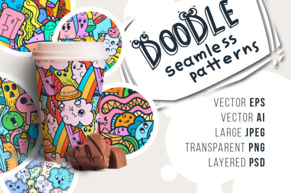 Print on Demand: Monster Doodle Patterns Graphic Patterns By Drekhann