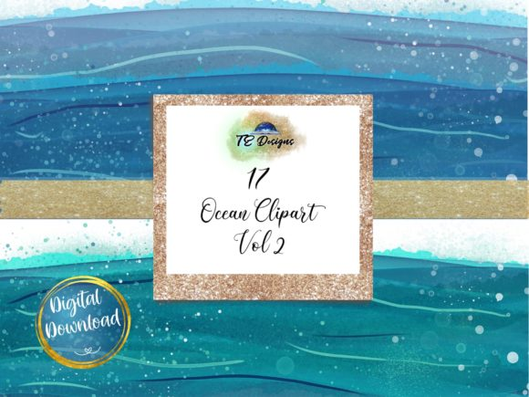 Print on Demand: Ocean Clipart Vol 2 Graphic Illustrations By TE Designs