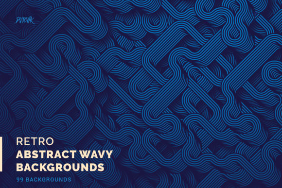 Retro | Abstract Wavy Backgrounds Graphic Backgrounds By dvtchk
